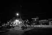 WASHINGTON, DC — 9/5/20 -- Community residents ride by the vigil saluting Deon. <br /> Family, community members and activists attend a vigil for Deon Kay, 18, who was shot by MPD officers who say that Kay was armed and had a weapon at the time of the shooting. Body cam footage corroborates the officer's version of events, but family and community leaders and activists demand to know why non-lethal methods were not used..…by André Chung #_AC21869