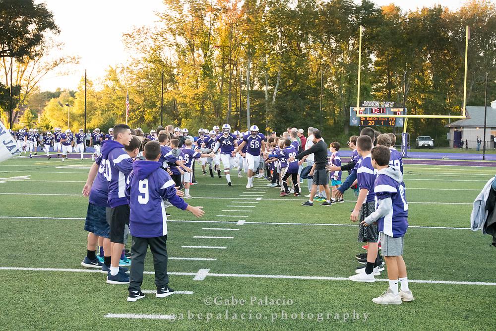 John Jay Varsity Football game vs. Brewster on September 9, 2017. (photo by Gabe Palacio)