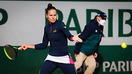 Veronika Kudermetova of Russia in action against Petra Martic of Croatia during the second round at the Roland Garros 2020, Grand Slam tennis tournament, on October 1, 2020 at Roland Garros stadium in Paris, France - Photo Rob Prange / Spain ProSportsImages / DPPI / ProSportsImages / DPPI