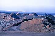 Volcanic landscape of craters and volcanic cones, Timanfaya National Park, Lanzarote, Canary Islands, Spain 1979