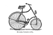 Humber Safety 1885 From Wheels and Wheeling; An indispensable handbook for cyclists, with over two hundred illustrations by Porter, Luther Henry. Published in Boston in  1892