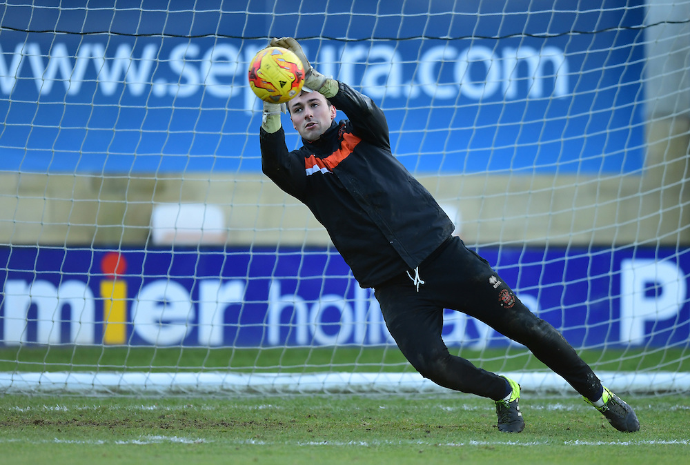 Blackpool's Dean Lyness during the pre-match warm-up <br /> <br /> Photographer Chris Vaughan/CameraSport<br /> <br /> The EFL Sky Bet League Two - Cambridge United v Blackpool - Saturday 14th January 2017 - The Cambs Glass Stadium - Cambridge<br /> <br /> World Copyright © 2017 CameraSport. All rights reserved. 43 Linden Ave. Countesthorpe. Leicester. England. LE8 5PG - Tel: +44 (0) 116 277 4147 - admin@camerasport.com - www.camerasport.com