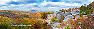 63895-15916 Camel Rock in fall color Garden of the Gods Recreation Area Shawnee National Forest IL