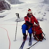 John Fischer on Cho La Glacier, Khumbu, Nepal 1980