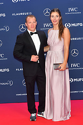 February 18, 2019 - Monaco, Monaco - Florian Hambuechen and his girlfriend Nina arriving at the 2019 Laureus World Sports Awards on February 18, 2019 in Monaco  (Credit Image: © Famous/Ace Pictures via ZUMA Press)