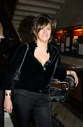 The HON.PETRONELLA WYATT at a party to celebrate the publication of Andrew Robert's new book 'Waterloo: Napoleon's Last Gamble' and the launch of the paperback version of Leonie Fried's book 'Catherine de Medici' held at the English-Speaking Union, Dartmouth House, 37 Charles Street, London W1 on 8th February 2005.<br />