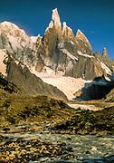 Cerro Torre from Agostini camp, Glaciares National Park, Patagonia, Argentina.