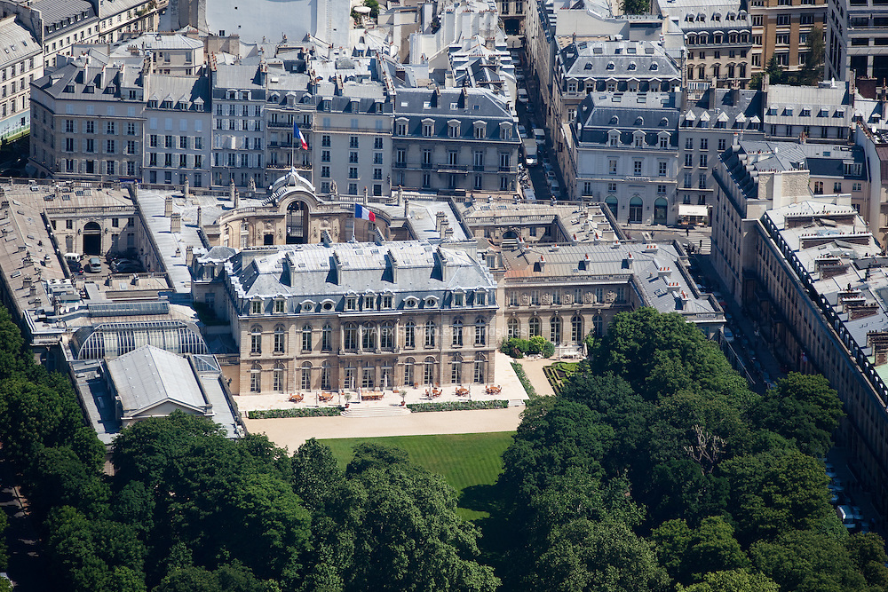 The Élysée Palace is the official residence of the President of the French Republic, containing his office and where the Council of Ministers meets.