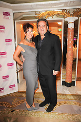 NICK LESLAU and MAXINE LESLAU at the Fantasy Ball in aid if children's cancer charity CLIC Sargent held at The Dorchester, Park Lane, London on 11th November 2010.