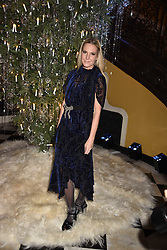 Alice Naylor-Leyland at reception to celebrate the launch of the Claridge's Christmas Tree 2017 at Claridge's Hotel, Brook Street, London England. 28 November 2017.<br /> Photo by Dominic O'Neill/SilverHub 0203 174 1069 sales@silverhubmedia.com