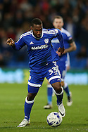 Junior Hoilett of Cardiff city in action .EFL Skybet championship match, Cardiff city v Sheffield Wednesday at the Cardiff city stadium in Cardiff, South Wales on Wednesday 19th October 2016.<br /> pic by Andrew Orchard, Andrew Orchard sports photography.