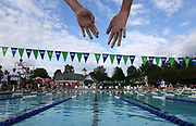 Glenmore's Mirabel DiVita gets set to begin the girls 9-10 50 SC meter breaststroke race during the Jefferson Swim League meet against Gordonsville at Glenmore Country Club in Charlottesville, VA. Photo/The Daily Progress/Andrew Shurtleff