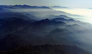 Fog over the Los Angeles basin.