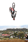 David Mc Millan, France peforming aerials in the finals of the Mons Royal Dual Speed and Style event, Crankworx Rotorua 26.03.2015