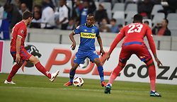 Cape Town-180804 Cape Town City midfielder Thabo Nodada challenged by Dean Furman  f Supersport in the first game of the 2018/2019 season at Cape Town Stadium.photograph:Phando Jikelo/African News Agency/ANAr
