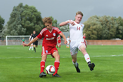 NEWPORT, WALES - Wednesday, August 3, 2016: South Wales Academy Boys' Rubin Colwill during the Welsh Football Trust Cymru Cup 2016 at Newport Stadium. (Pic by Ian Cook/Propaganda)