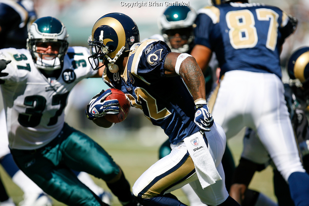 6 Sept 2008: St. Louis Rams running back Travis Minor #22 run the ball during the game against the Philadelphia Eagles on August 28, 2008. The Eagles beat the Rams 38-3 at Lincoln Financial Field in Phialdelphia, Pennsylvania.