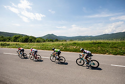 Jan TRATNIK of BAHRAIN VICTORIOUS, Daniel MUÑOZ GIRALDO of ANDRONI GIOCATTOLI, Danny VAN DER TUUK of EQUIPO KERN PHARMA, Andrey ZEITS of TEAM BIKEEXCHANGE during the 4th Stage of 27th Tour of Slovenia 2021 cycling race between Ajdovscina and Nova Gorica (164,1 km), on June 12, 2021 in Slovenia. Photo by Vid Ponikvar / Sportida