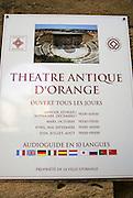 Roman Theatre, Orange, Provence, France