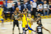 Golden State Warriors forward Kevin Durant (35) takes the ball to the basket against the Milwaukee Bucks at Oracle Arena in Oakland, Calif., on March 29, 2018. (Stan Olszewski/Special to S.F. Examiner)