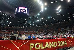 06.09.2014, Spodek, Katowice, POL, FIVT WM, Finnland vs Deutschland, Gruppe B, im Bild HALA SPODEK WIDOK Z GORY TRYBUNY KIBICE // during the FIVB Volleyball Men's World Championships Pool B Match beween Finland and Germany at the Spodek in Katowice, Poland on 2014/09/06. <br /> <br /> ***NETHERLANDS ONLY***