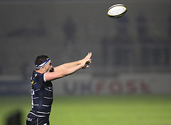 Cameron Neild of Sale Sharks takes a lineout - Mandatory by-line: Jack Phillips/JMP - 04/11/2016 - RUGBY - AJ Bell Stadium - Sale, England - Sale Sharks v Wasps - The Anglo-Welsh Cup