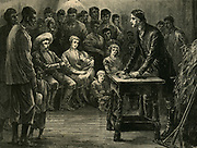Robert Moffat (1795-1883) Scottish missionary , preaching inin Bechuanaland . Father-in-law of David Livingstone.