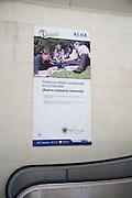 ALSA advertising poster at Granada bus station, Spain