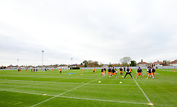 LIVERPOOL, ENGLAND - Wednesday, November 7, 2012: Liverpool's players during a training session at the club's Melwood Training Ground ahead of the UEFA Europa League Group A match against FC Anji Makhachkala. (Pic by Vegard Grott/Propaganda)