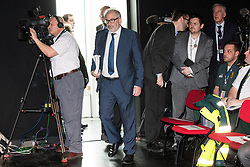 © Licensed to London News Pictures . FILE PICTURE DATED 23/05/2017 as Manchester prepares to mark a year since the Manchester Arena terror attack . Salford, UK. BOB KERSLAKE enters the room . The Kerslake Report in to the terrorist bombing of an Ariana Grande concert at the Manchester Arena on 22nd May 2017 , ordered by Greater Manchester Metro Mayor Andy Burnham , is published at a press conference at the University of Salford , at Media City . Amongst praise for many connected with the events, the report also highlights failings in communication at Greater Manchester Fire and Rescue on the night and disreputable behaviour by some sections of the media in the aftermath of the attack . Photo credit : Joel Goodman/LNP