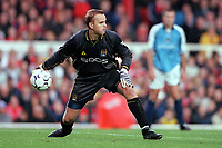 Nicky Weaver (Manchester City). Arsenal v Manchester City, F.A.Carling Premiership, 28/10/2000. Credit Colorsport / Stuart MacFarlane.