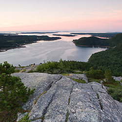 The entrance to Somes Sound as seen from Acadia Mountain in Maine's Acadia National Park.