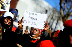 South Africa  - Johannesburg  - 24 June 2020 - Members of the EFF together with other organizations  protesting outside the Roodepoort Magistrates court where Muzikayise Malephane will be appearing for the murder of Tshegofatso Pule. Picture: Nokuthula Mbatha/African news Agency(ANA)