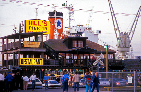 Hill's Pier 19 Restaurant in Galveston Texas