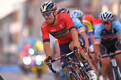 August 3, 2018 - Putte, BELGIUM - Italian Sonny Colbrelli of Bahrain-Merida pictured in action during the 3rd edition of the 'Natourcriterium Putte' cycling event, Friday 03 August 2018 in Putte. The contest is a part of the traditional 'criteriums', local races in which mainly cyclists who rode the Tour de France compete. BELGA PHOTO LUC CLAESSEN (Credit Image: © Luc Claessen/Belga via ZUMA Press)