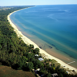 Aerial View of Lake Superior outside of Upper Penninsula of Michigan