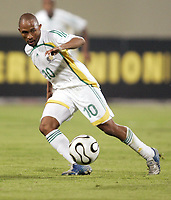 Fotball<br /> Sør Afrika<br /> Foto: Dppi/Digitalsport<br /> NORWAY ONLY<br /> <br /> FOOTBALL - AFRICAN CUP OF NATIONS 2006 - FIRST ROUND - GROUP C - 060122 - SOUTH AFRICA v GUINEA -  BENEDICT VILAKAZI (AFS)