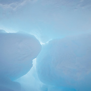 Ice formations stacked up on the ice pack of the Beaufort Sea. Kaktovik, Alaska
