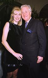 MISS KIRSTEN HUGHES and SIR BENJAMIN SLADE Bt. at a party in London on 4th November 1998.MLO 6