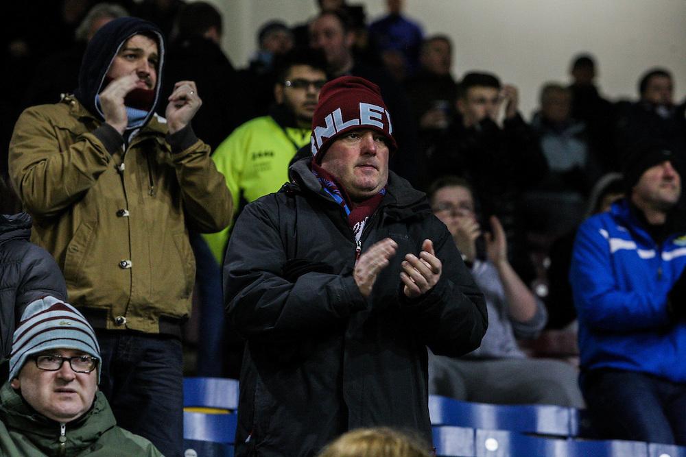 Burnley fans<br /> <br /> Photographer Alex Dodd/CameraSport<br /> <br /> Football - The Football League Sky Bet Championship - Burnley v Nottingham Forest- Tuesday 23rd February 2016 - Turf Moor - Burnley<br /> <br /> © CameraSport - 43 Linden Ave. Countesthorpe. Leicester. England. LE8 5PG - Tel: +44 (0) 116 277 4147 - admin@camerasport.com - www.camerasport.com