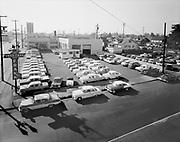 Simon012.  Frank Chevrolet, 5131  NE Union (Now Vanport Square on MLK) October 18, 1961.