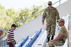 July 4, 2018 - Gelendzhik, Russia - 180704 Military and security personel at the Swedish national football teams practice session during the FIFA World Cup on July 4, 2018 in Gelendzhik..Photo: Petter Arvidson / BILDBYRN / kod PA / 92081 (Credit Image: © Petter Arvidson/Bildbyran via ZUMA Press)