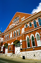 Tennessee: Nashville, Ryman Auditorium, music district, photo: tnmusi103  .Photo copyright Lee Foster, www.fostertravel.com, 510/549-2202, lee@fostertravel.com