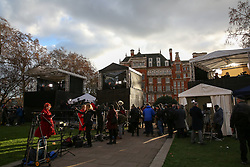 © Licensed to London News Pictures. 12/12/2018. London, UK. Media centre in College Green. The British Prime Minister Theresa May announced that she will contest tonight's vote of no confidence in her leadership. Photo credit: Dinendra Haria/LNP