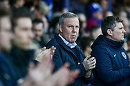 Portsmouth Manager, Kenny Jackett during the EFL Sky Bet League 1 match between Portsmouth and Barnsley at Fratton Park, Portsmouth, England on 23 February 2019.
