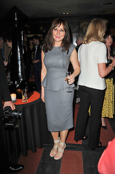 CAROL VORDERMAN at a party following a gala evening of Daniela Lavender's one woman show 'A Woman Alone'  The party was held at Blakes Hotel, Roland Gardens, London SW7 on 7th April 2011.