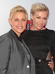 """Ellen DeGeneres, Portia de Rossi attends The Los Angeles Premiere of Season 4 of """"Arrested Development"""" held at the TCL Chinese Theater in Los Angeles, CA on April 29th, 2013. (Photo by Adam Orchon/Sipa USA)"""
