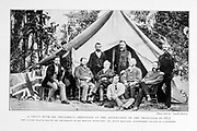 A Group With Sir Theophilus Shepstone At The Annexation Of The Transvaal In 1877 From the Book '  Britain across the seas : Africa : a history and description of the British Empire in Africa ' by Johnston, Harry Hamilton, Sir, 1858-1927 Published in 1910 in London by National Society's Depository