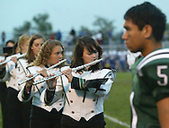 Members of the Minisink Valley band play the National Anthem before the start of a game against Washingtonville in Slate Hill on Sept. 14, 2007. Minisink Valley's Marc Rivera is at right.