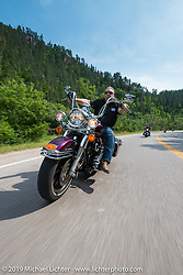 The Legends Ride from Deadwood, SD through Spearfish Canyon and to the Sturgis Buffalo Chip during the Sturgis Black Hills Motorcycle Rally. SD, USA. August 4, 2014.  Photography ©2014 Michael Lichter.